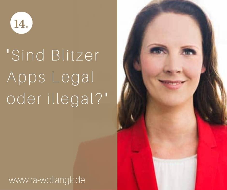 Sind Blitzer Apps Legal oder illegal?